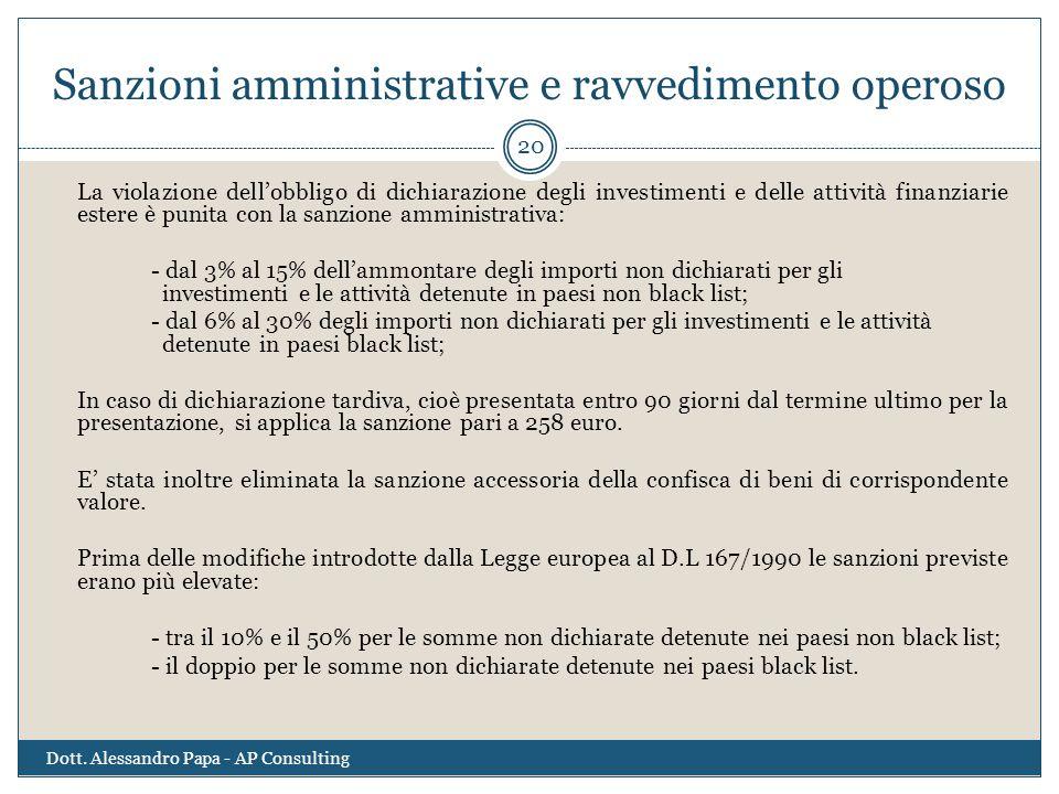 Sanzioni amministrative e ravvedimento operoso