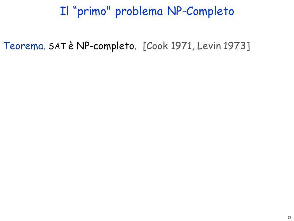 Il primo problema NP-Completo