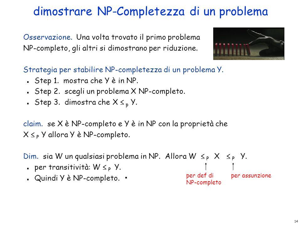 dimostrare NP-Completezza di un problema
