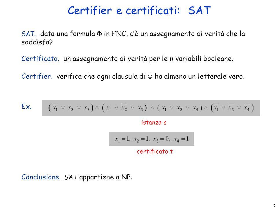 Certifier e certificati: SAT