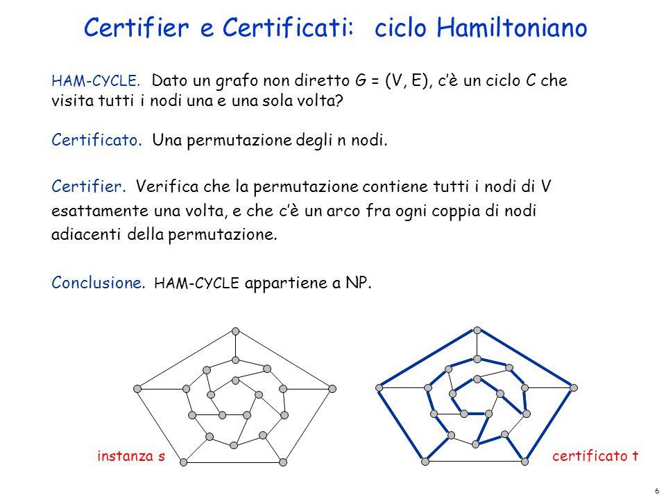 Certifier e Certificati: ciclo Hamiltoniano