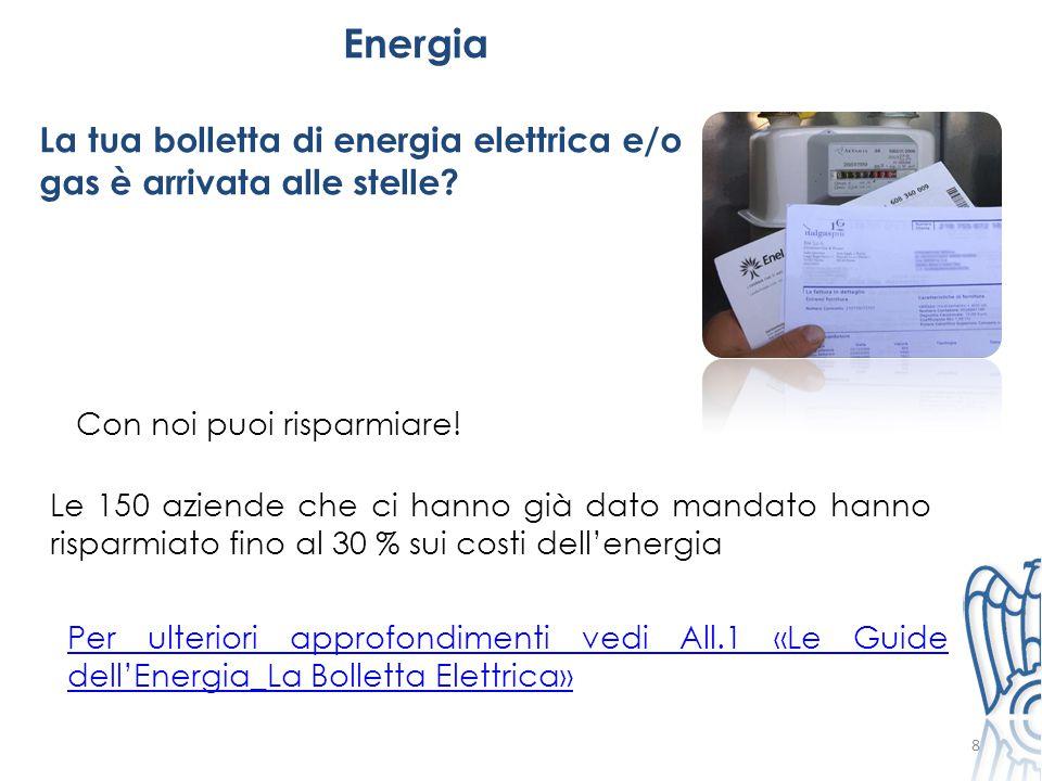 Energia La tua bolletta di energia elettrica e/o gas è arrivata alle stelle Con noi puoi risparmiare!