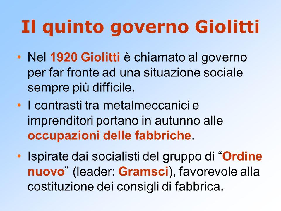 Il quinto governo Giolitti