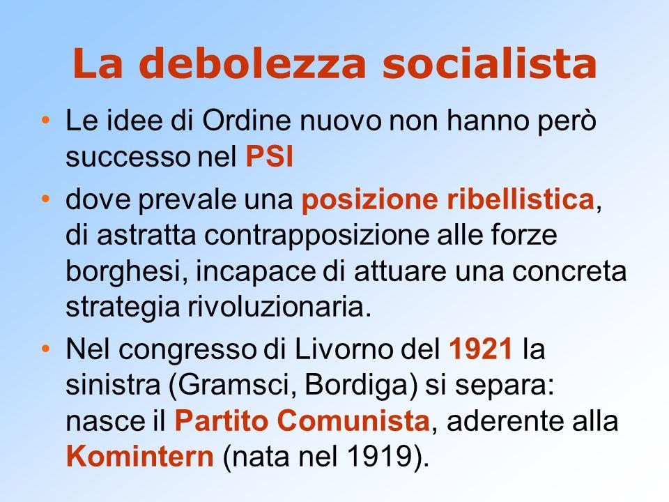 La debolezza socialista