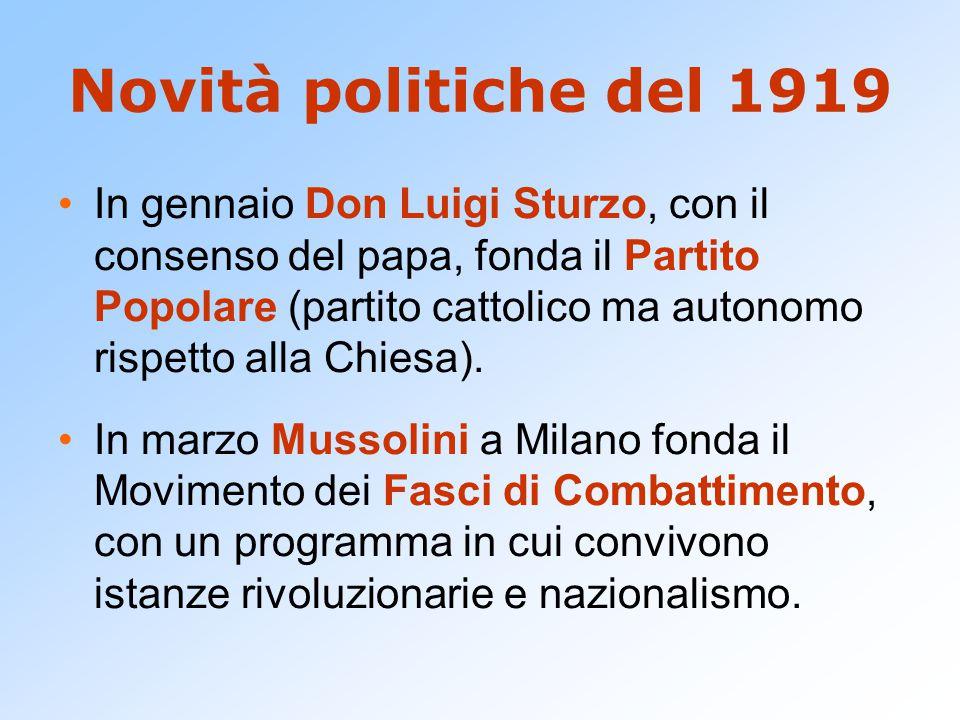 Novità politiche del 1919
