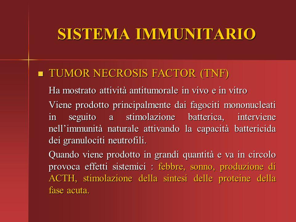SISTEMA IMMUNITARIO TUMOR NECROSIS FACTOR (TNF)