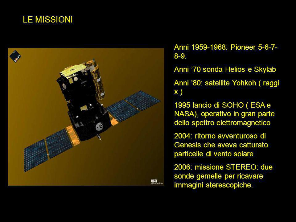 LE MISSIONI Anni 1959-1968: Pioneer 5-6-7-8-9.
