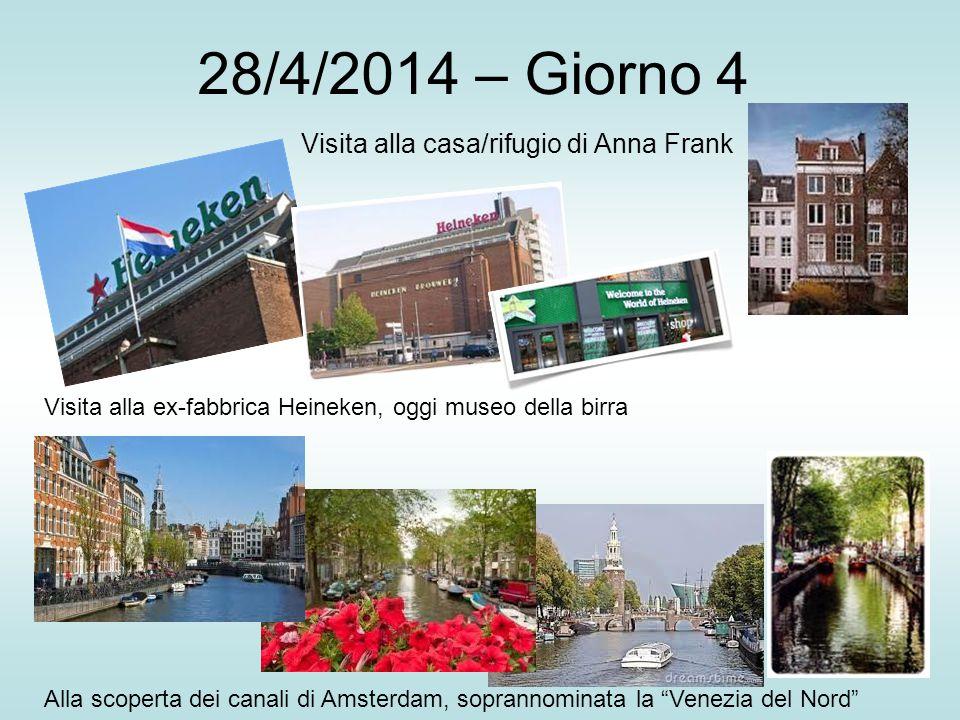 28/4/2014 – Giorno 4 Visita alla casa/rifugio di Anna Frank