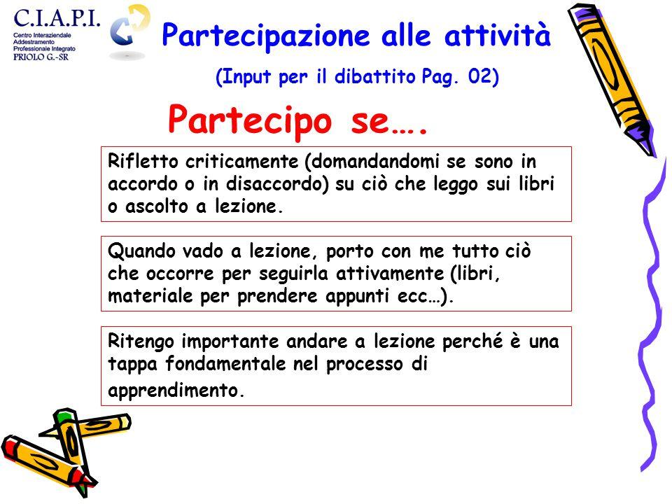 Partecipazione alle attività (Input per il dibattito Pag. 02)
