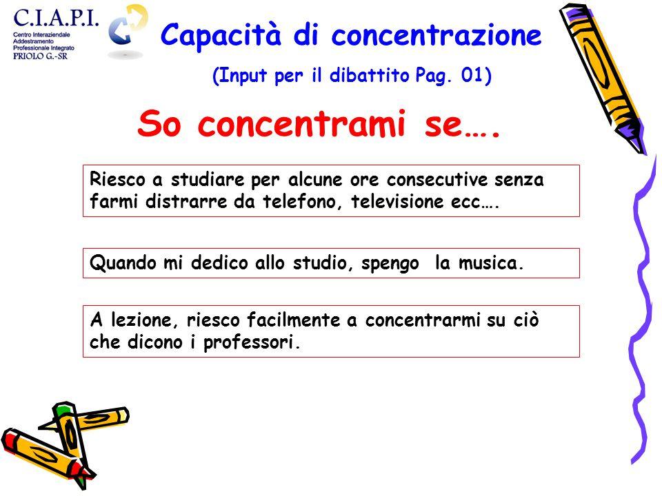 Capacità di concentrazione (Input per il dibattito Pag. 01)