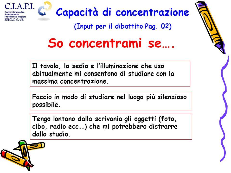 Capacità di concentrazione (Input per il dibattito Pag. 02)