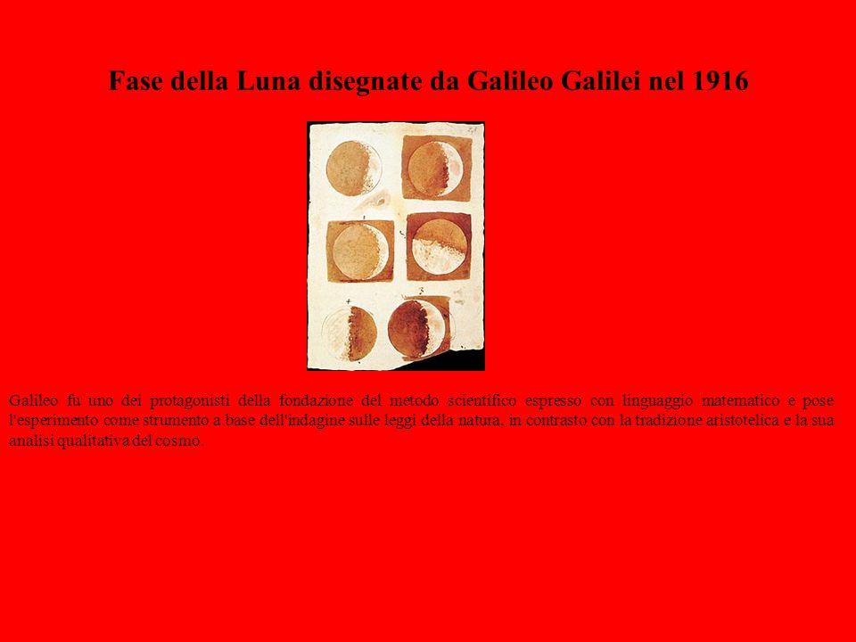 Fase della Luna disegnate da Galileo Galilei nel 1916
