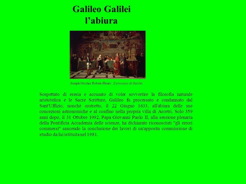 Galileo Galilei l'abiura