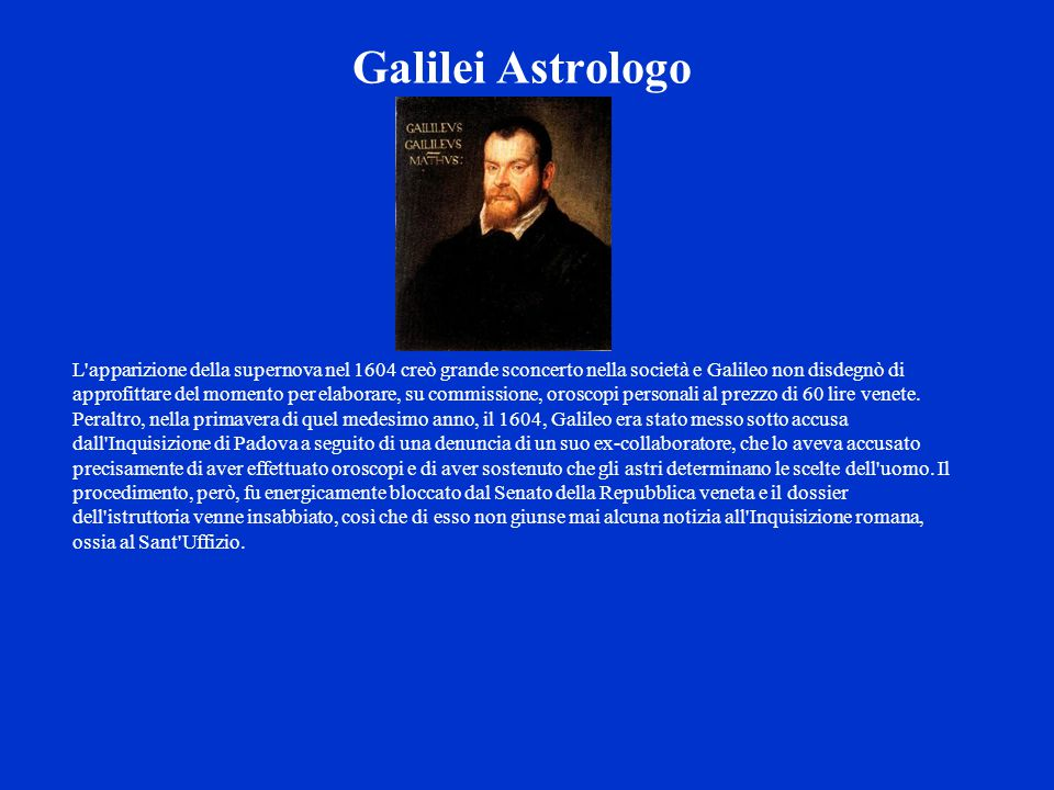 Galilei Astrologo
