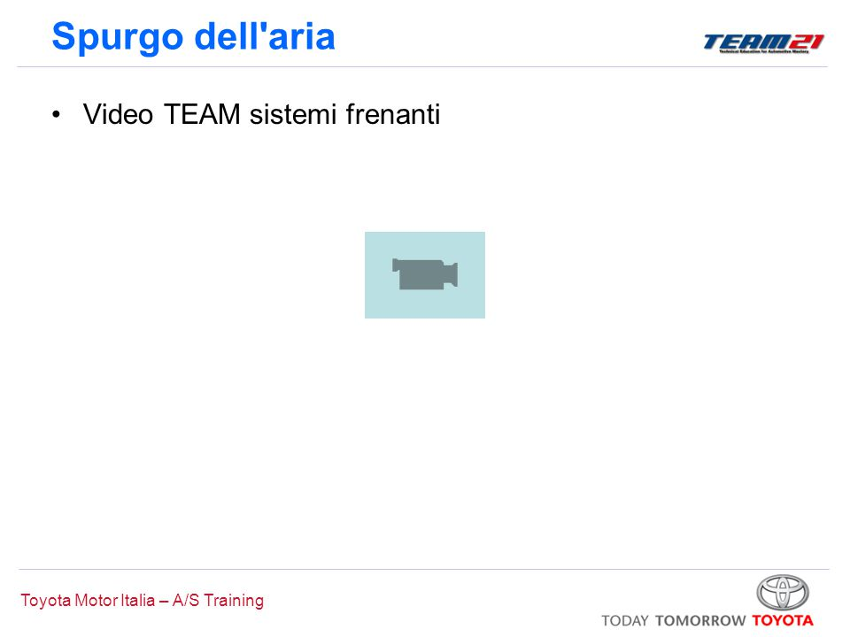 Spurgo dell aria Video TEAM sistemi frenanti