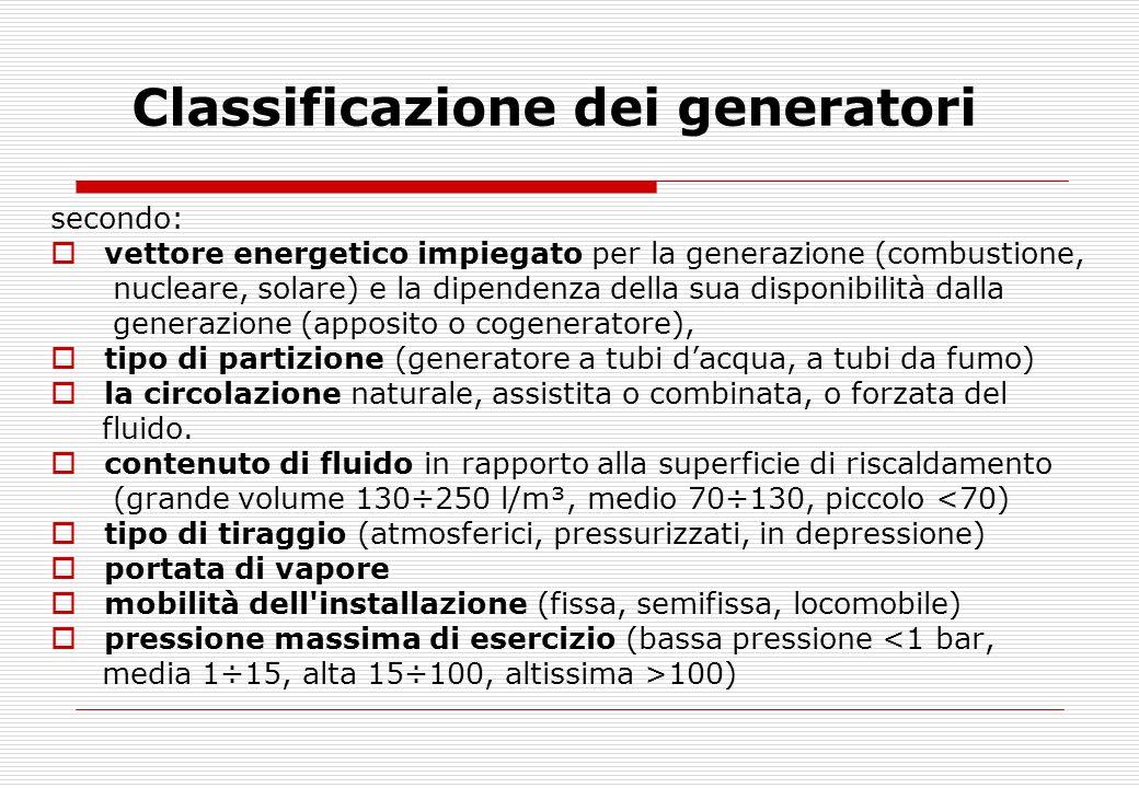 Classificazione dei generatori