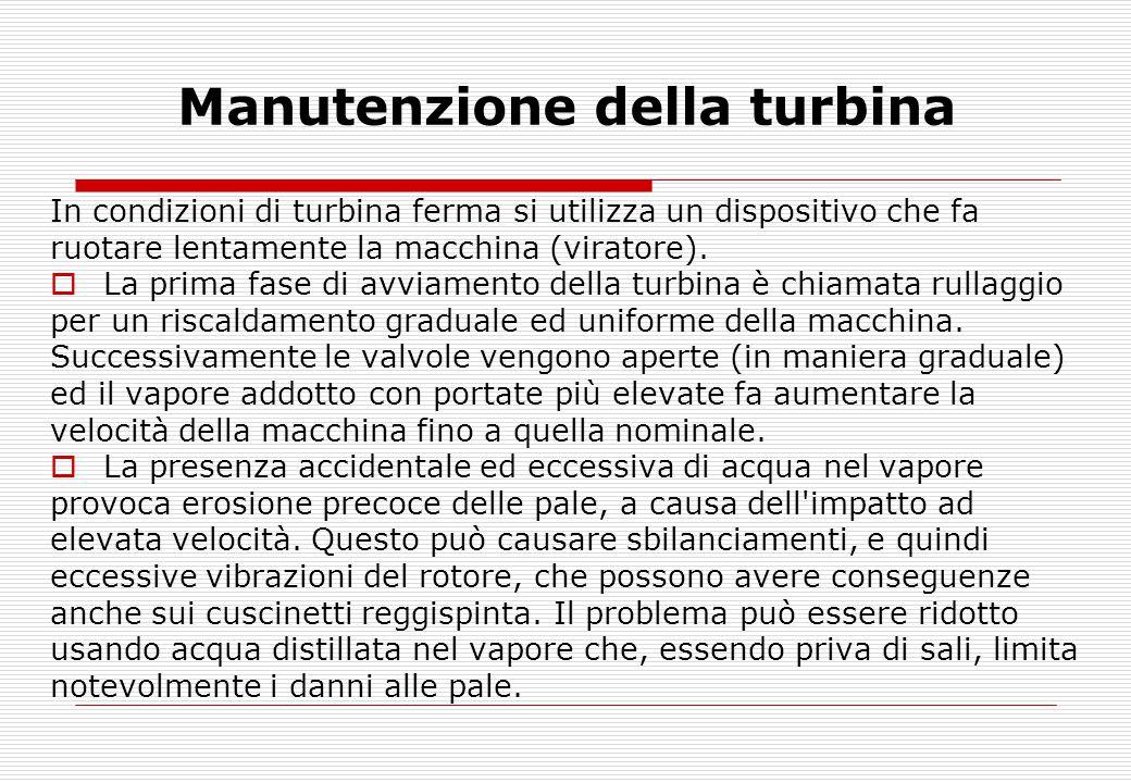 Manutenzione della turbina