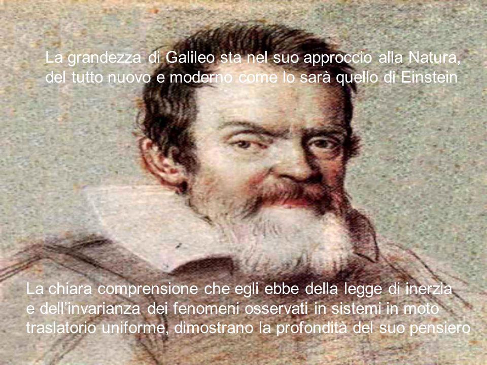 La grandezza di Galileo sta nel suo approccio alla Natura,