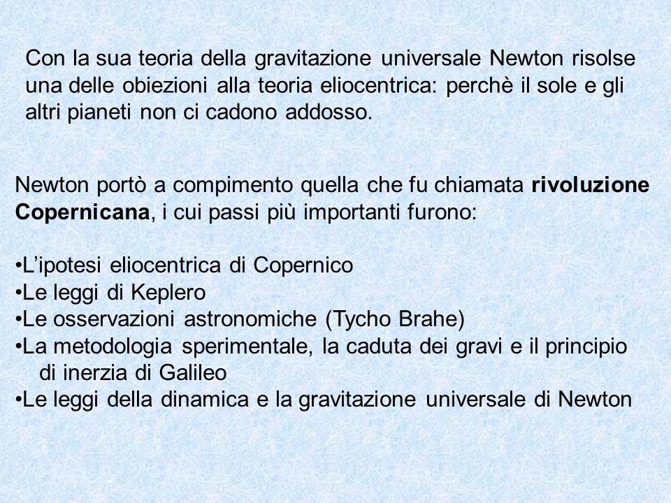Con la sua teoria della gravitazione universale Newton risolse