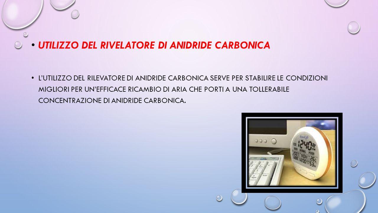 Utilizzo del rivelatore di anidride carbonica