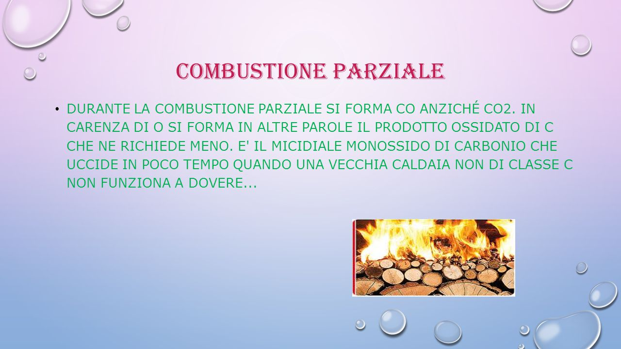 Combustione Parziale