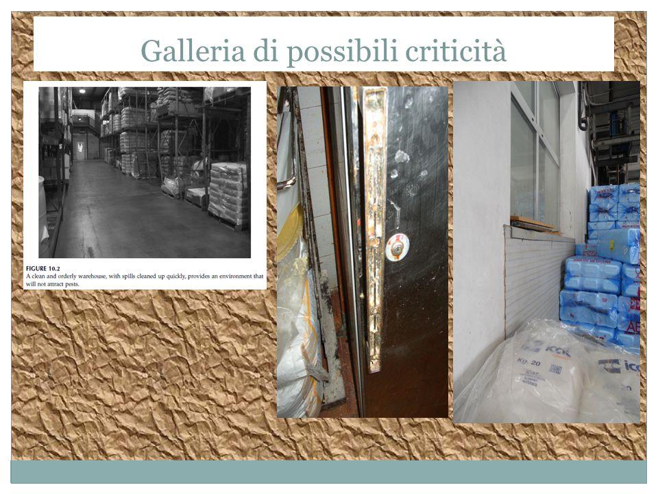 Galleria di possibili criticità