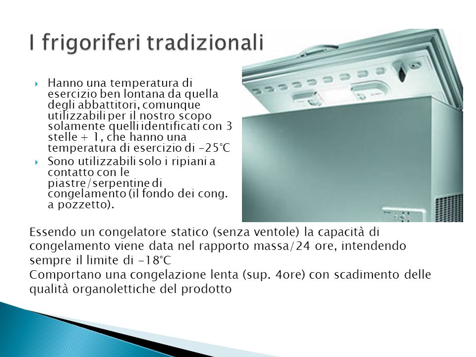 I frigoriferi tradizionali