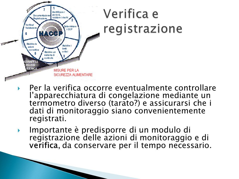 Verifica e registrazione