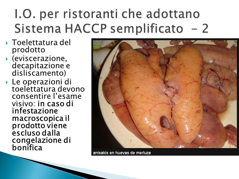 I.O. per ristoranti che adottano Sistema HACCP semplificato - 2