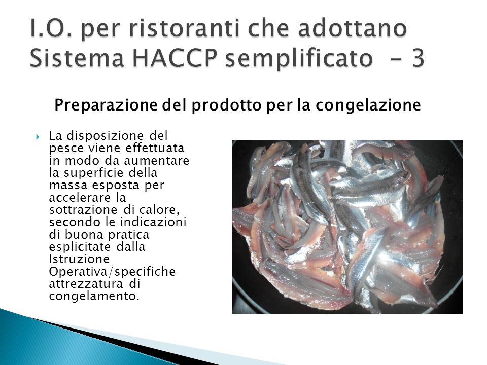 I.O. per ristoranti che adottano Sistema HACCP semplificato - 3