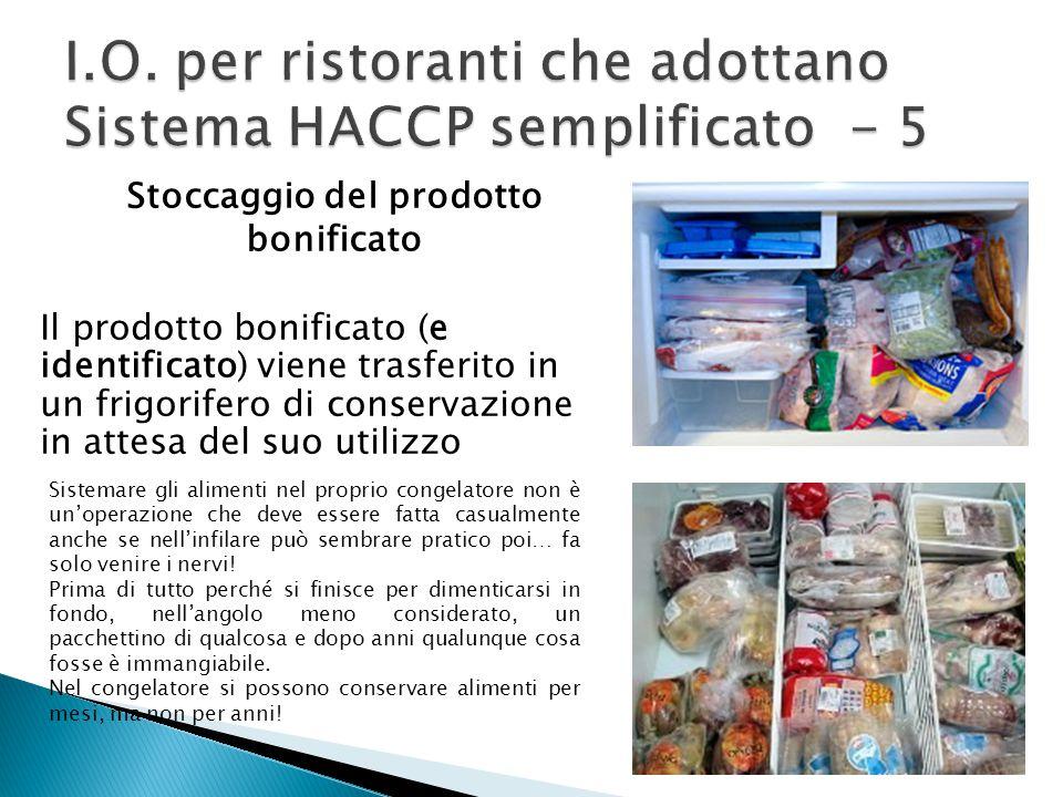 I.O. per ristoranti che adottano Sistema HACCP semplificato - 5