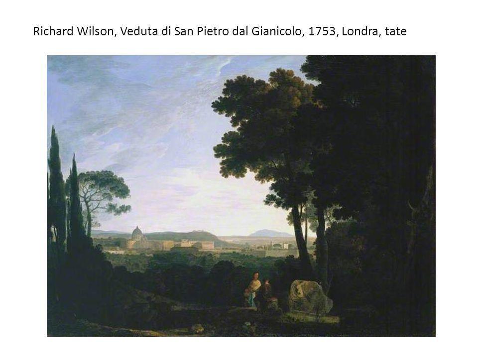 Richard Wilson, Veduta di San Pietro dal Gianicolo, 1753, Londra, tate