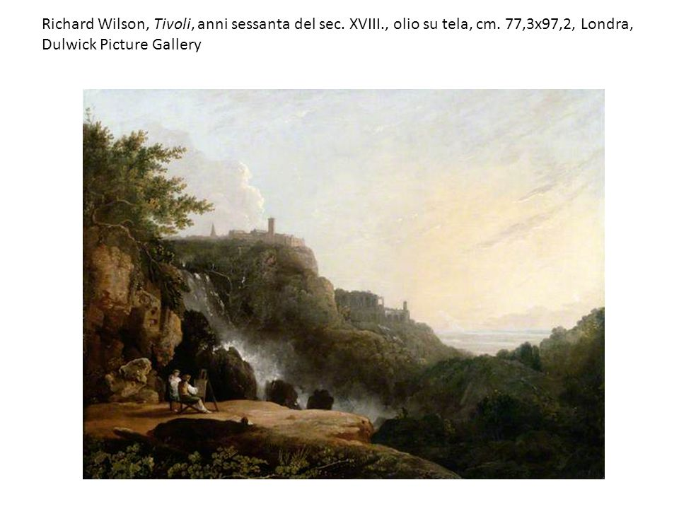 Richard Wilson, Tivoli, anni sessanta del sec. XVIII