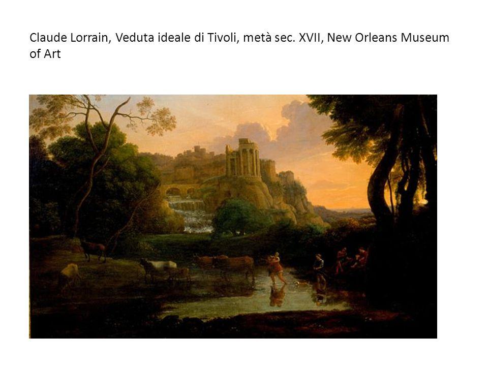 Claude Lorrain, Veduta ideale di Tivoli, metà sec