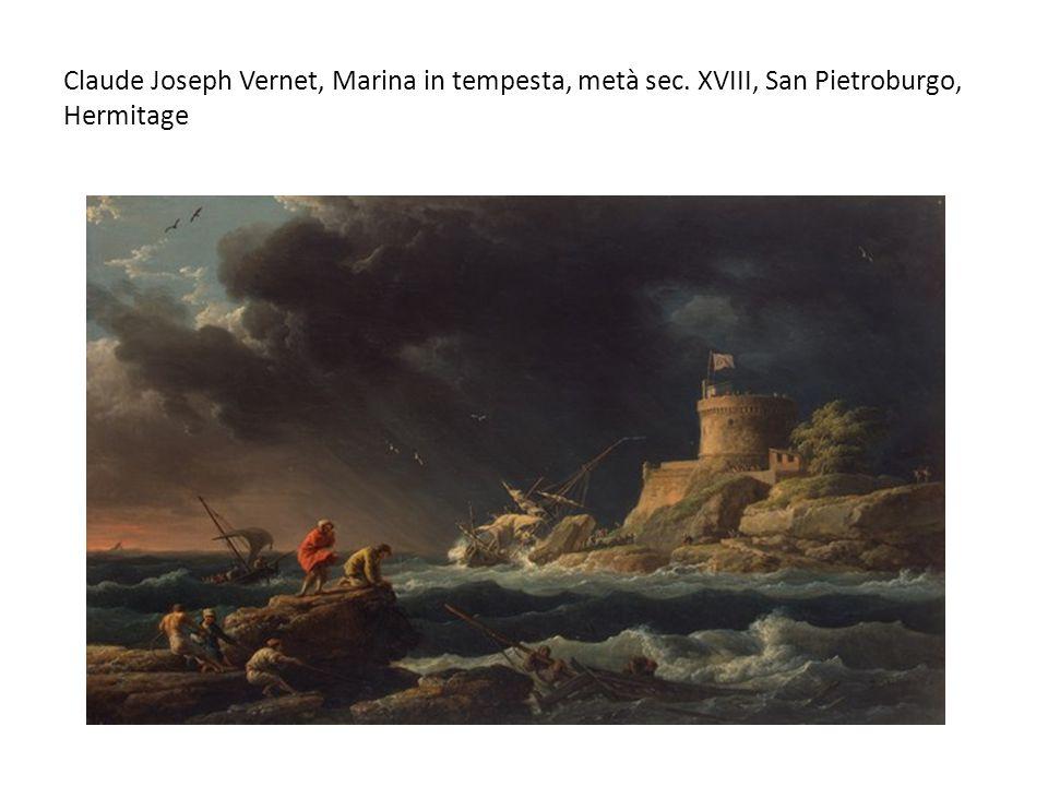 Claude Joseph Vernet, Marina in tempesta, metà sec
