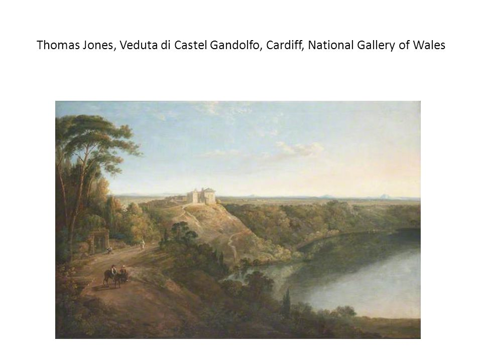 Thomas Jones, Veduta di Castel Gandolfo, Cardiff, National Gallery of Wales