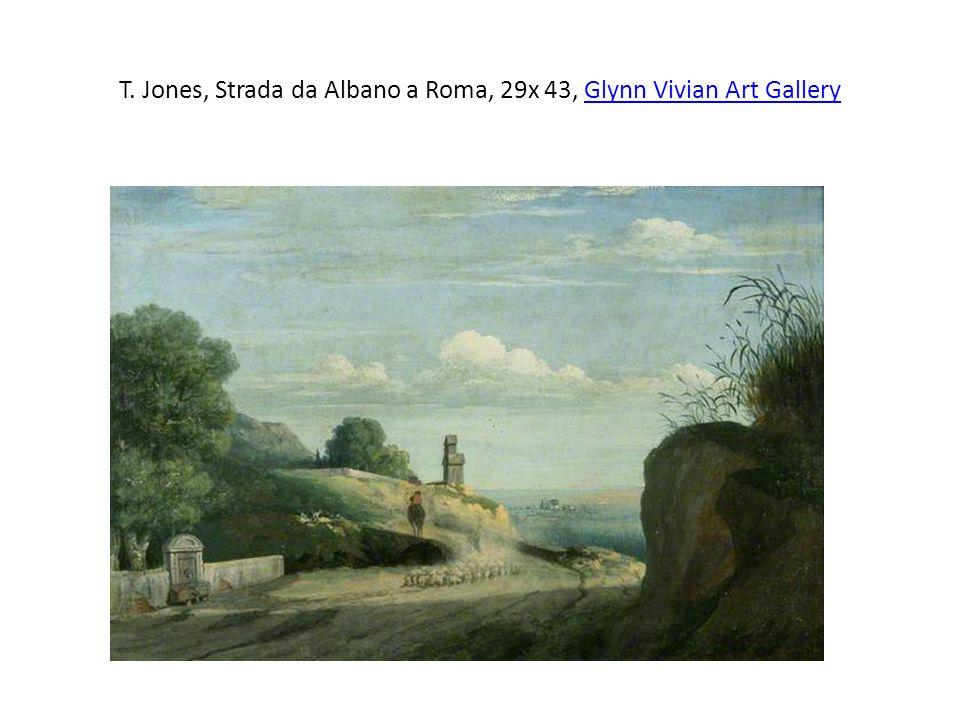 T. Jones, Strada da Albano a Roma, 29x 43, Glynn Vivian Art Gallery