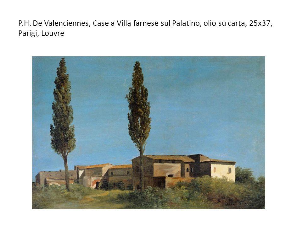 P.H. De Valenciennes, Case a Villa farnese sul Palatino, olio su carta, 25x37, Parigi, Louvre