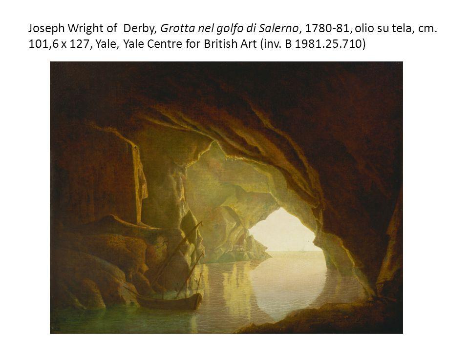 Joseph Wright of Derby, Grotta nel golfo di Salerno, 1780-81, olio su tela, cm.