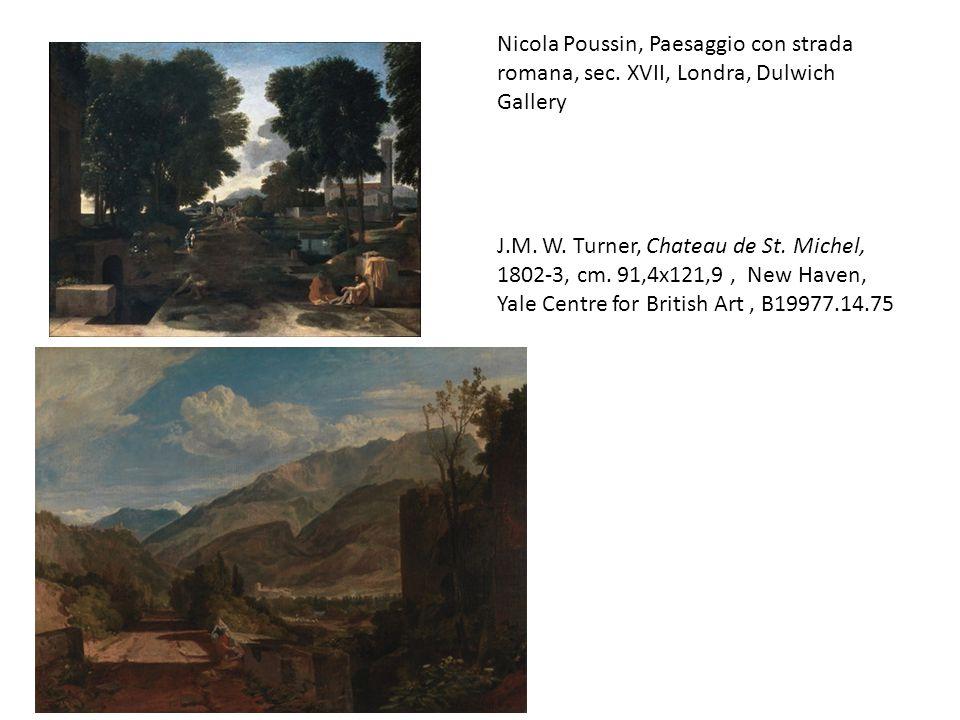 Nicola Poussin, Paesaggio con strada romana, sec