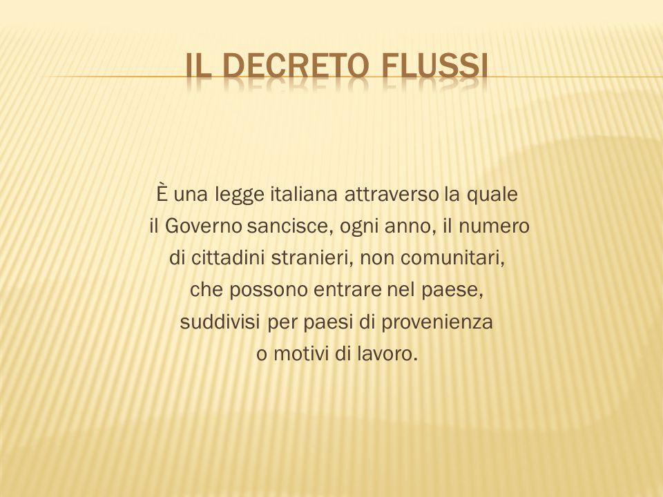 Il decreto flussi