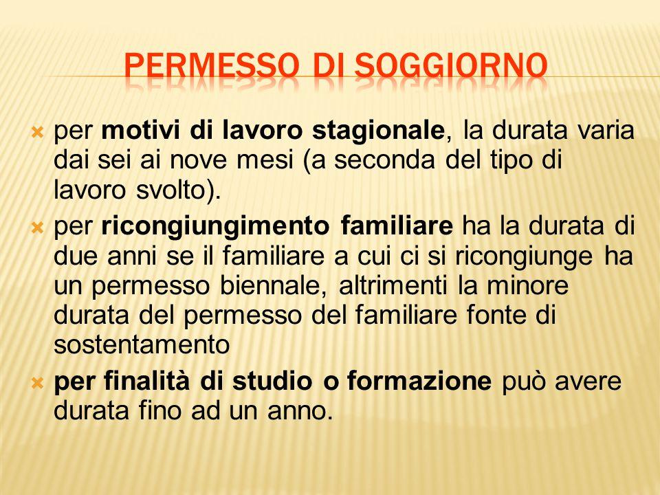 Beautiful Carta Di Soggiorno Per Motivi Familiari Ideas - House ...