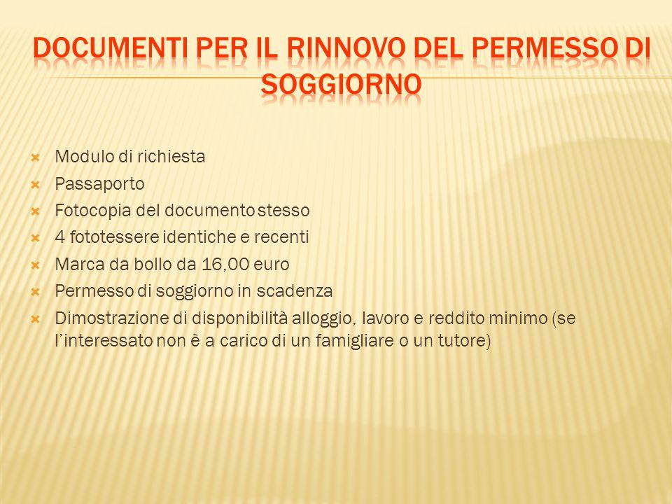 Informazioni sull ingresso in italia ppt scaricare for Rinnovo permesso di soggiorno lavoro subordinato documenti necessari