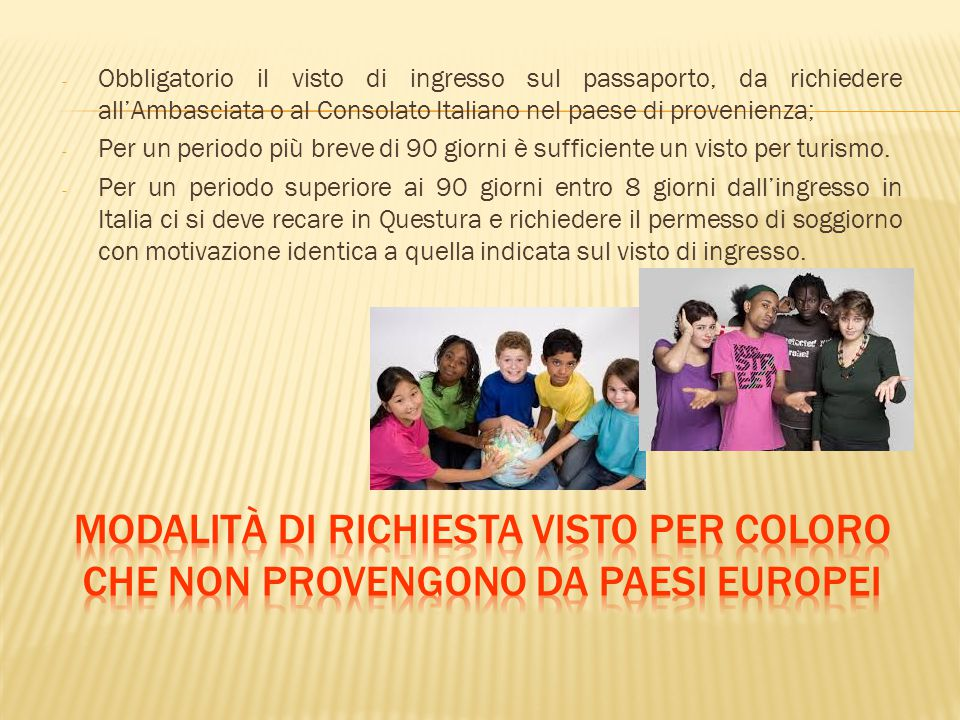 Informazioni sull ingresso in italia ppt scaricare for Permesso di soggiorno schengen