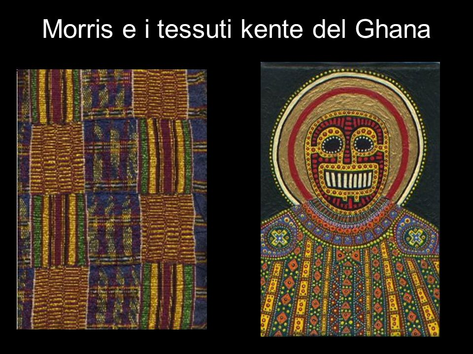 Morris e i tessuti kente del Ghana