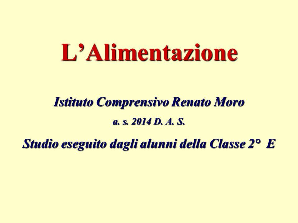 L'Alimentazione Istituto Comprensivo Renato Moro