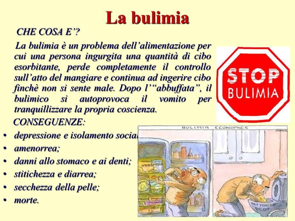 La bulimia CHE COSA E'