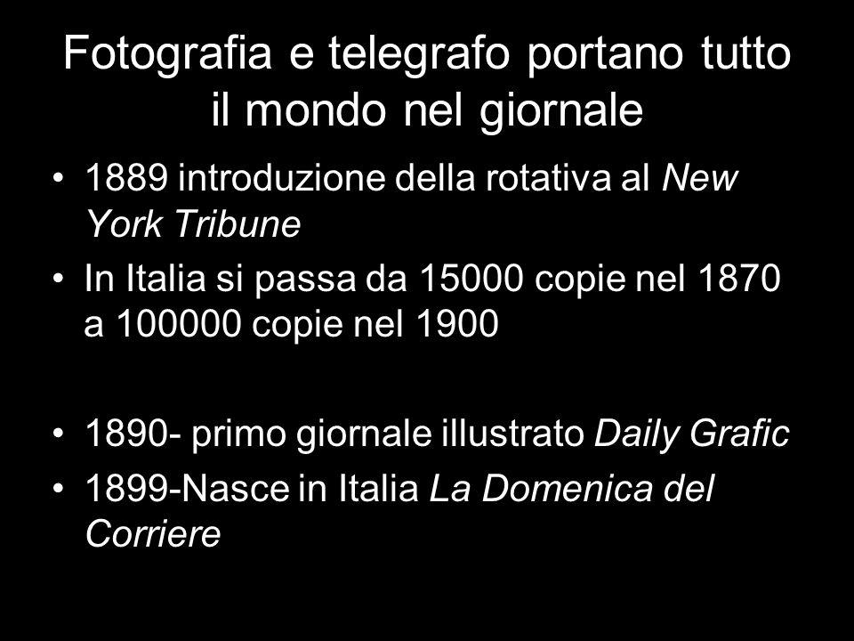 Fotografia e telegrafo portano tutto il mondo nel giornale