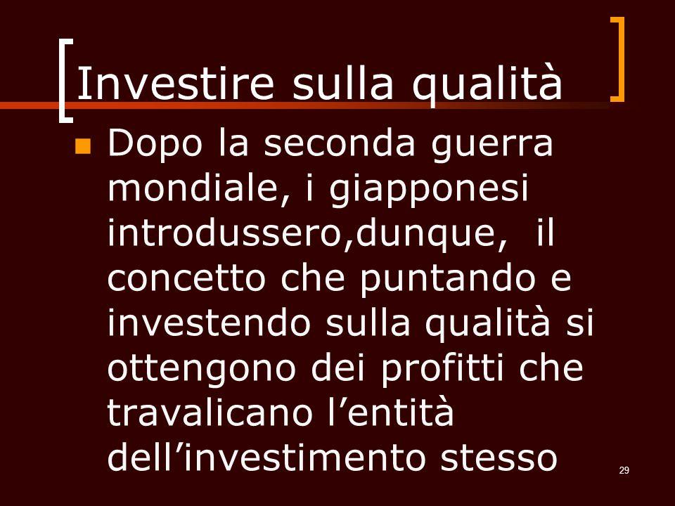 Investire sulla qualità
