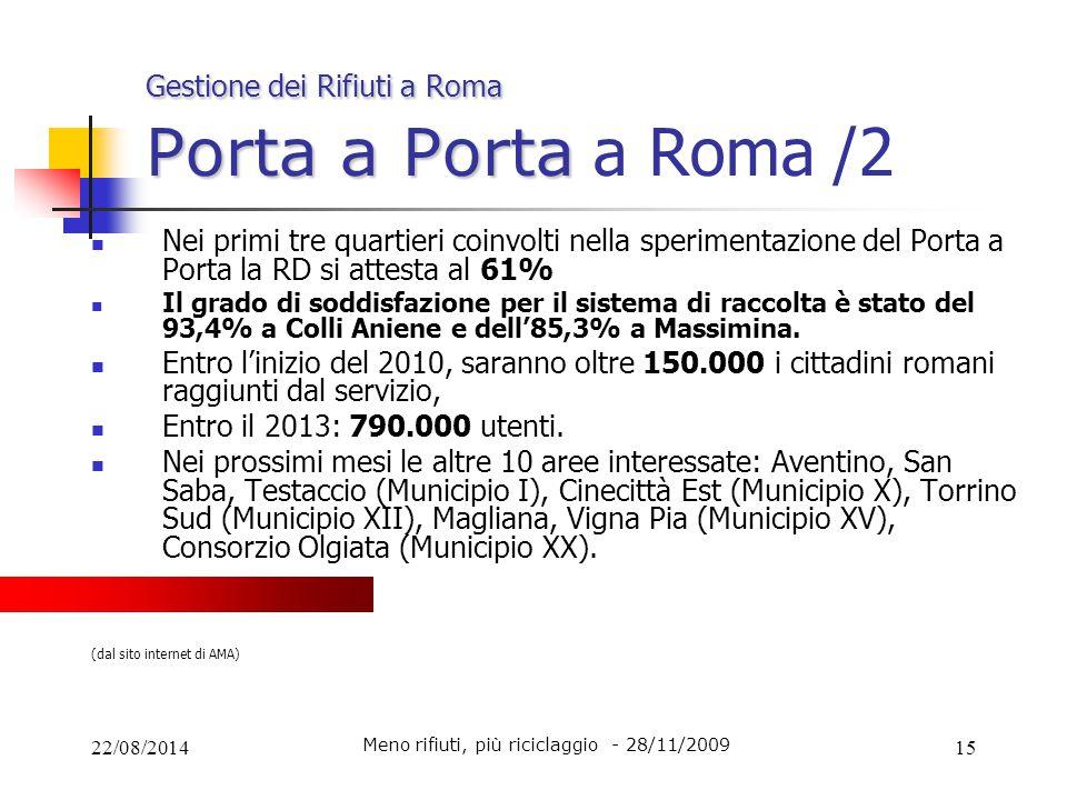 Gestione dei Rifiuti a Roma Porta a Porta a Roma /2